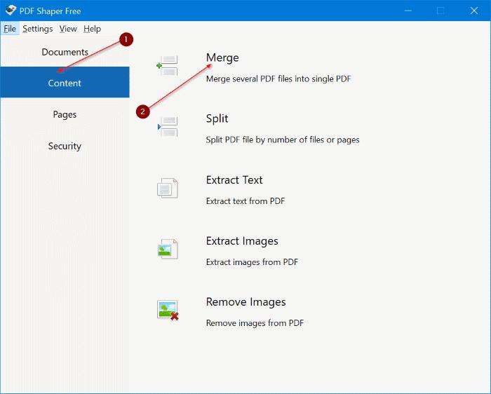 Menggabungkan File PDF