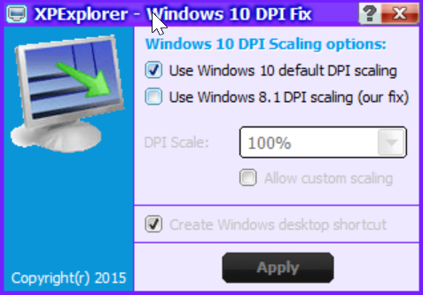Windows 10 DPI Fix