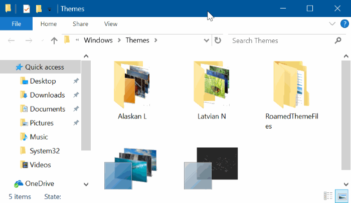 Folder Themes Windows 10