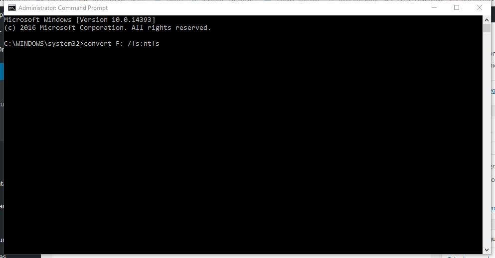 Konversi FAT32 ke NTFS