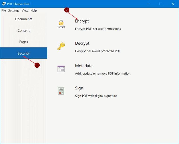 Password Dokumen PDF - PDF Shaper