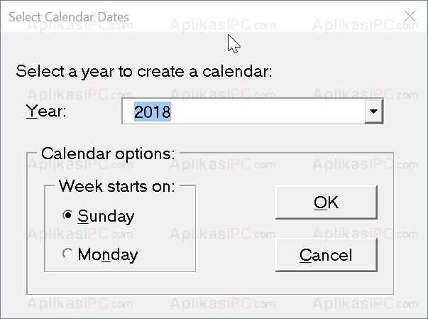 Format Kalender