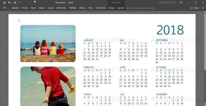 Kalender Microsoft Word