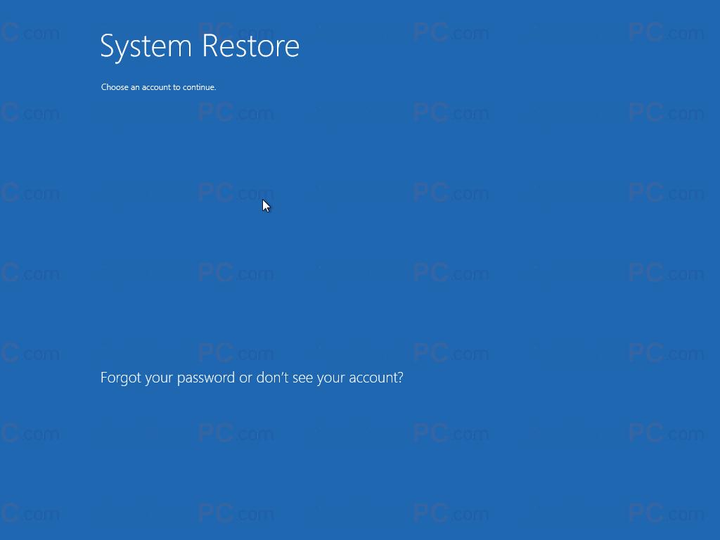 Login System Restore
