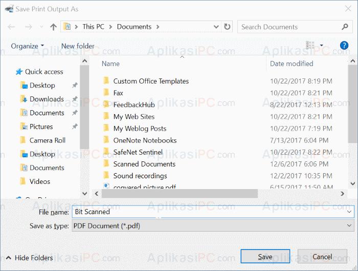 Save Scan Dokumen PDF