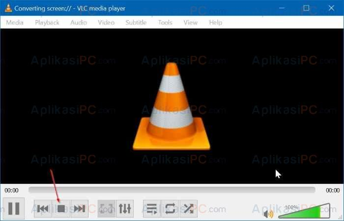 VLC Media Player Stop