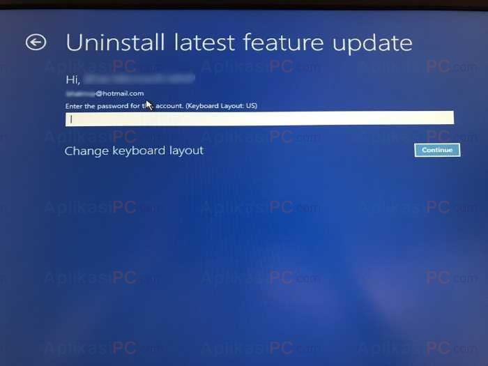 Password Uninstall Update Windows 10