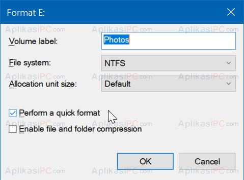 Format Disk Management
