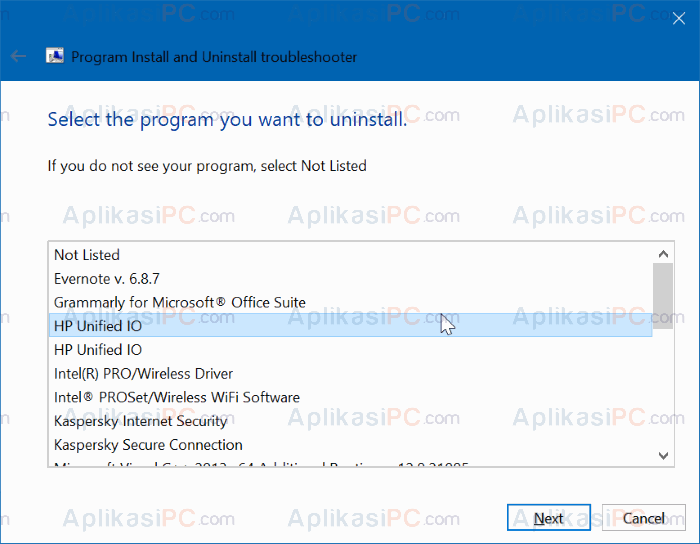 Program Install and Uninstall Troubleshooter