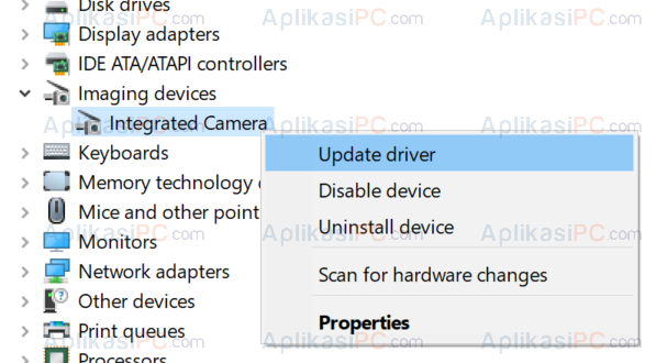 Device Manager - Update Driver