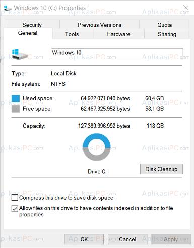 Disk Properties