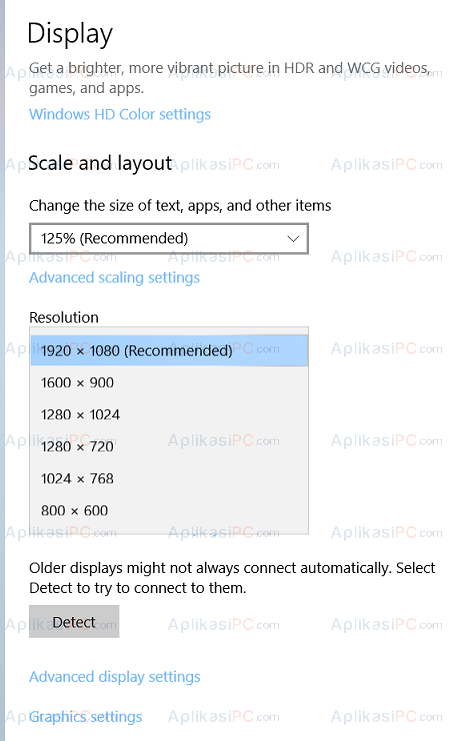 Screen Resolution Windows 10
