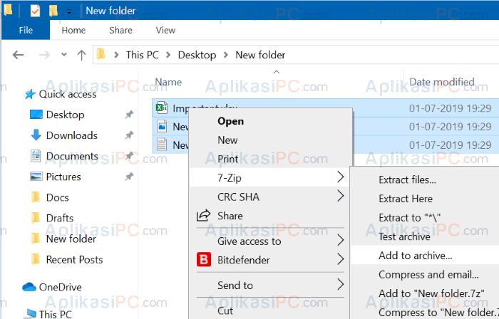 merupakan salah satu aplikasi pengarsipan terbaik yang tersedia secara gratis untuk hampi Cara Password File ZIP Menggunakan 7-Zip di Windows 10