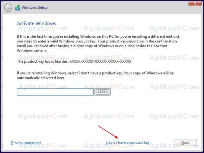 Install Windows 10 Tanpa Product Key