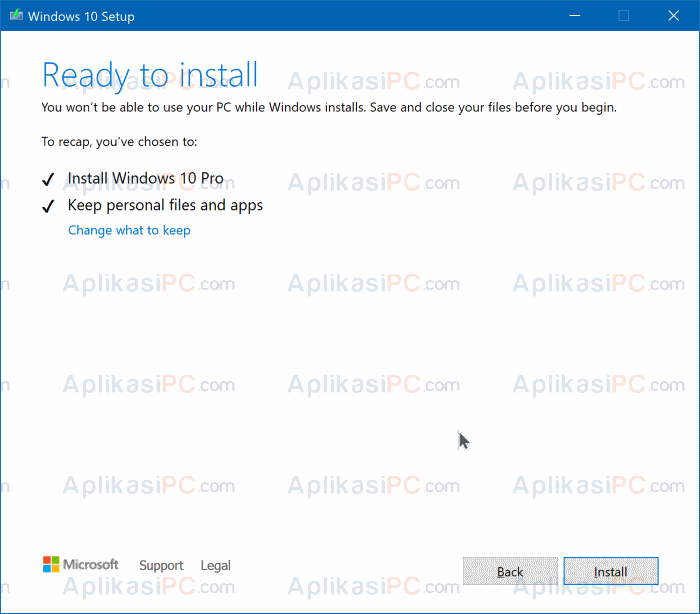Install Windows 10 - Media Creation Tool