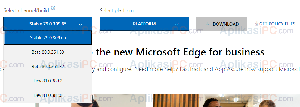 Select Channel - Download Edge Chromium Offline Installer