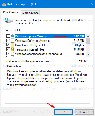 Disk Cleanup - Clean up system files