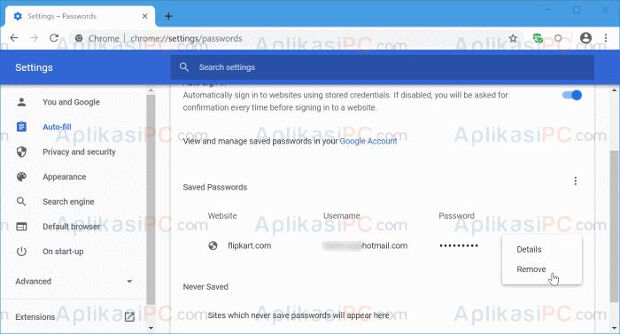Password Google Chrome