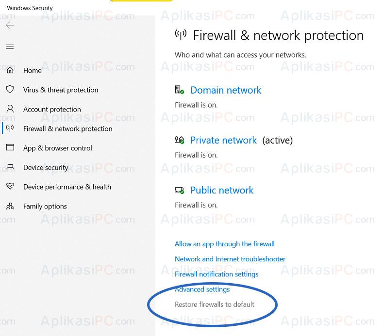 Windows Security - Firewall & Network Protection