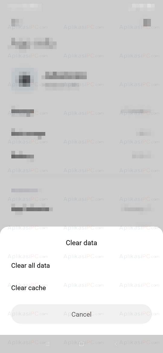 Clear Data Cache Aplikasi Android