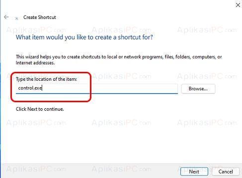 Shortcut Control Panel