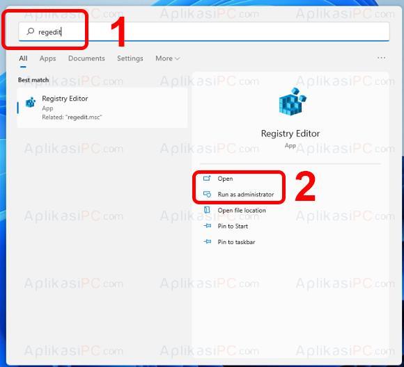 Cara Membuka RegEdit Windows 11