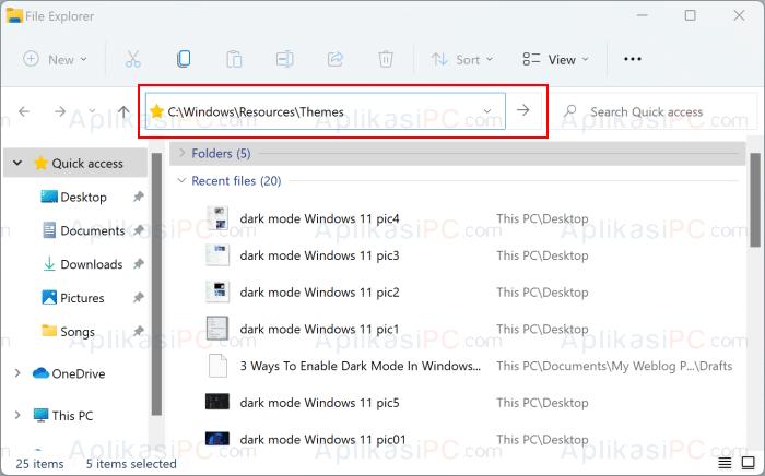 File Explorer - Themes