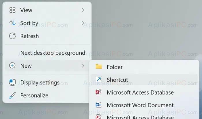 New Shortcut Windows 11