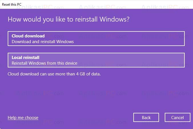 Reset PC Windows 11