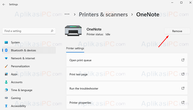 Settings - Bluetooth & Devices - Printers & Scanners