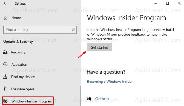 Settings - Windows Insider