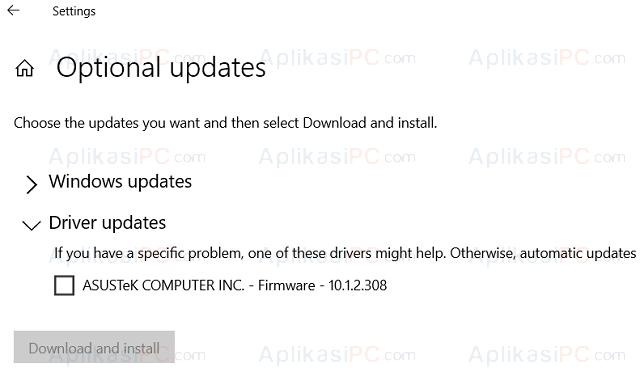 Windows Update - Update Driver