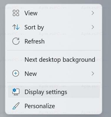 Display settings Windows 11